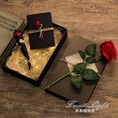 禮盒 禮物盒 送帶燈禮品盒 創意仿古發光禮盒包裝盒硬紙大號 果果輕時尚
