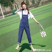 網紅牛仔背帶褲女夏秋新款韓版寬鬆洋氣可愛港味小個子連衣褲 檸檬衣舍