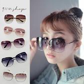 Glint.優雅側D字大方框金屬鏡架太陽眼鏡【f761】*911 SHOP*