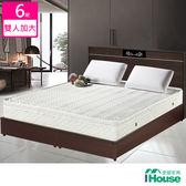 IHouse-卡羅 3M防潑水蜂巢三線獨立筒床墊-雙大6x6.2尺