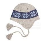 Snow Travel 雪之旅 AR-19灰色 遮耳雪花防寒保暖帽  遮耳毛線帽 反摺摺邊帽 防風毛帽