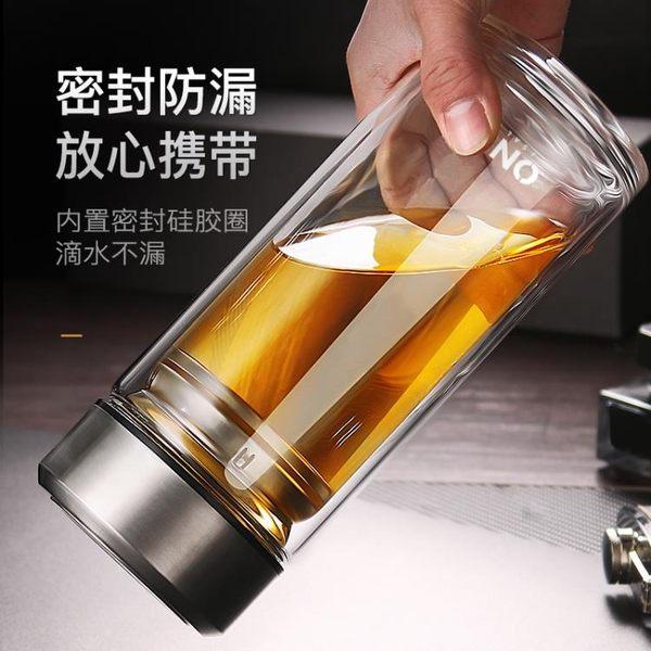 雙層玻璃杯1000ML大容量家用隔熱喝水杯男防摔泡茶杯保溫透明杯子