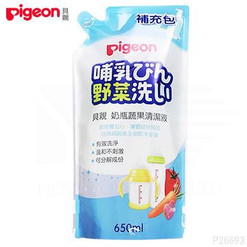 貝親 Pigeon 奶瓶蔬果清潔劑補充包650ml