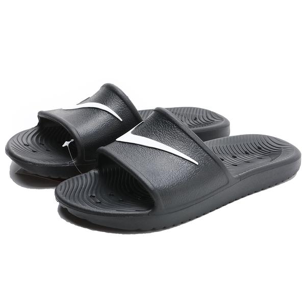 NIKE 涼拖鞋 KAWA SHOWER SLIDE 黑白 防水 輕量 運動 休閒 女 (布魯克林) 832655-001