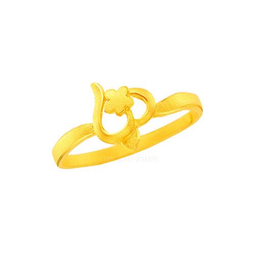 幸運草金飾-喜相隨-黃金戒指