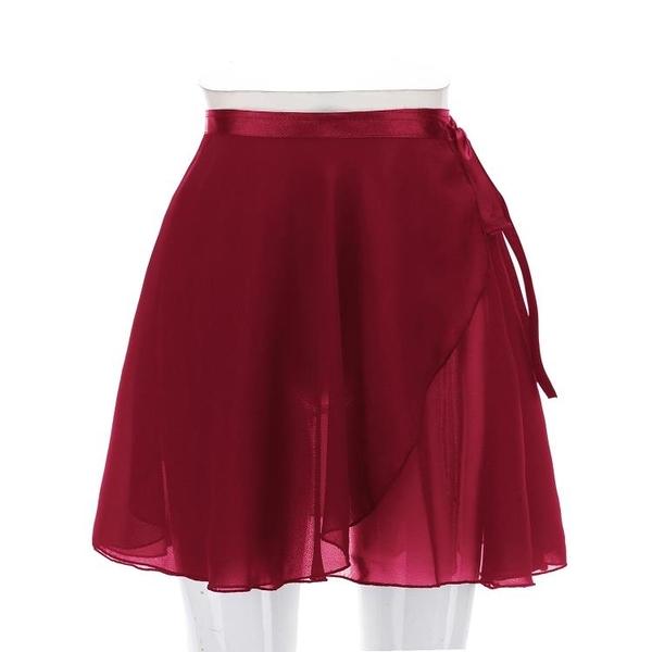 芭蕾舞裙練功服半身裙成人女形體裙舞蹈體操紗裙一片裙雪紡紗短裙 店慶降價
