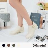 短靴 率性側扣帶後拉鍊短靴 MA女鞋 T7811