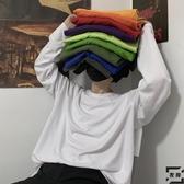 打底衫內搭男女長袖T恤韓版復古基礎款純色秋季【左岸男裝】