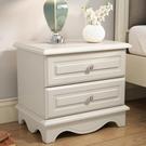 床頭櫃小簡約現代臥室白色烤漆北歐式小桌子40cm小戶型經濟型QM 依凡卡時尚