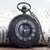 創意復古翻蓋羅馬電子懷錶男女學生項錬掛錶簡約項錬錶 樂活生活館