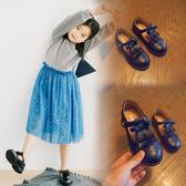 雙十二預熱 女童復古童鞋 小女孩新款春秋季公主鞋黑色皮鞋 兒童百搭單鞋