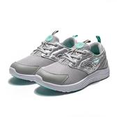 FILA 灰 蒂綠 小logo側面 網布 透氣 休閒鞋 慢跑鞋 女 (布魯克林)  5X309S413
