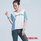 BOBSON 印圖小連袖上衣-(23083-81)