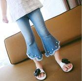 女童七分褲 女童喇叭褲童褲夏裝新款兒童牛仔七分褲LJ8259『夢幻家居』