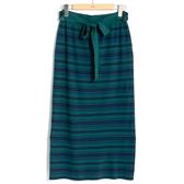 秋冬下殺↘5折[H2O]可拆式綁帶兩側下襬開叉針織長裙 - 綠/黑/咖色 #9650022