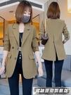 西裝外套小西裝外套女2021新款春秋高級感百搭休閒西服上衣小個子職業套裝 風馳 雙11特價