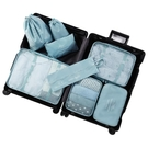 原設旅行收納袋套裝行李箱衣服整理包旅游防水內衣物收納包束口袋 露露日記