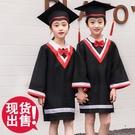 幼兒園學士服畢業照服裝拍照博士帽畢業袍小學畢業禮服兒童博士服 蘿莉新品