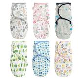 嬰兒包巾 懶人包巾 條紋多花色包被 新生兒用品滿版印花 純棉 寶寶包巾 60164
