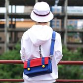 [哈GAME族]免運費 可刷卡●酷炫街頭時尚●SINGULAB NS 瑪利歐經典配色 便攜斜跨單肩包 斜背攜行包