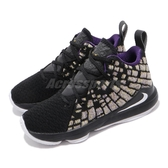 Nike 籃球鞋 LeBron XVII PS 黑 黃 童鞋 中童鞋 運動鞋 LBJ 詹姆士 【PUMP306】 BQ5595-004