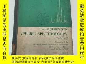 二手書博民逛書店developments罕見in applied spectro