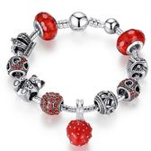 手鍊 串珠-琉璃飾品可愛小草莓時尚生日七夕情人節禮物飾品72l160【時尚巴黎】