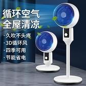新款空氣循環扇家用落地電風扇辦公靜音臺立式渦輪電扇搖頭對流扇 【夏日新品】