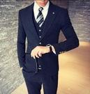 找到自己品牌 韓國男 基本款 紳士西裝外套穿搭 三件式套裝 成套西裝 西裝修身 外套+背心+褲子
