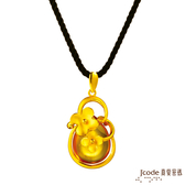J'code真愛密碼 春日時光黃金/水晶墜子 送項鍊