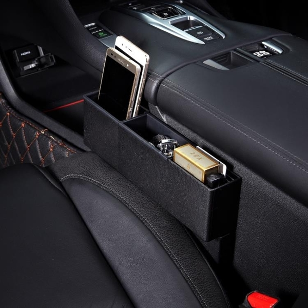 汽車收納盒座椅夾縫車載縫隙儲物盒車內收納袋掛袋置物盒創意用品YXS 韓小姐