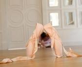 芭蕾舞鞋綁帶 女 帆布足尖鞋 成人練功鞋平底鞋舞蹈鞋單鞋