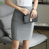 職業裙 女士職業裝正裝裙子修身半裙夏西裝裙OL工作裙包裙灰色短裙女工裝·夏茉生活