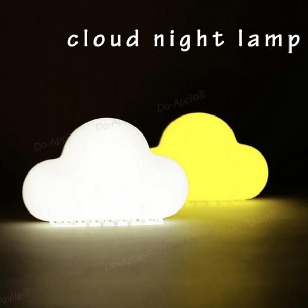 【F15】雲朵 雲 創意 設計 LED 觸控 聲控 黃光 白光 夜燈 小夜燈 觸控 檯燈 迷你 USB 充電 無線 輕巧