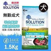 PRO毛孩王 耐吉斯SOLUTION 超級無穀 成犬羊肉配方小顆粒 紐澳放牧羊 1.5kg