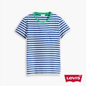 Levis 女款 短袖T恤 / 條紋口袋Tee