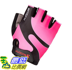 [106美國直購] 手套 BOODUN Cycling Gloves with Shock-absorbing Foam Pad Breathable Half  Pink