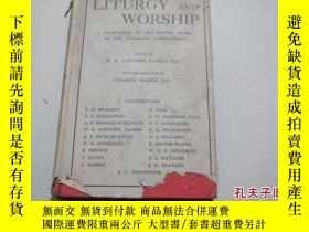 二手書博民逛書店1946年出版《liturgy罕見and worship》Y80