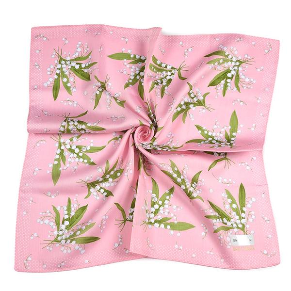 JUNKO SHIMADA幸福鈴蘭花純綿帕領巾(粉紅色)989019-1