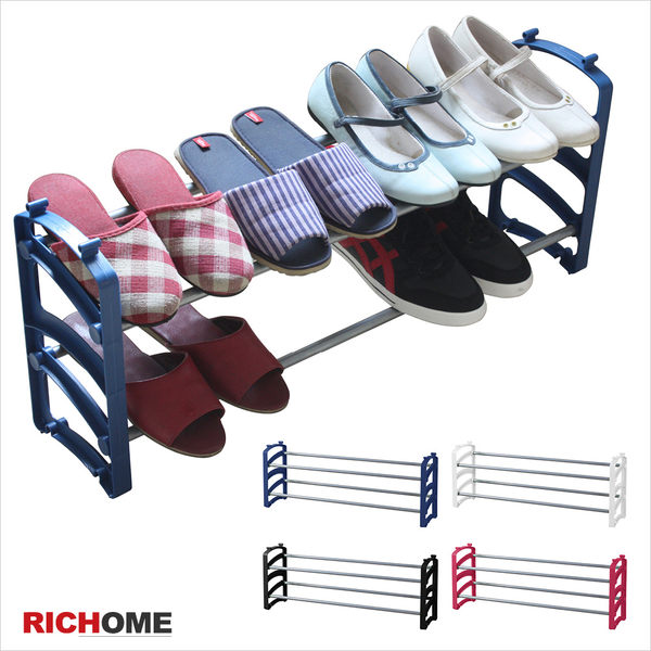 【RICHOME】SC167《愛麗絲可疊式鞋架-4入》鞋櫃  鞋撐  置物架  收納架