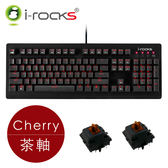 【i-Rocks】IRK65MS 單色背光機械鍵盤 - 茶軸