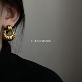 復古金屬鏤空耳環
