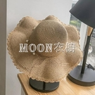 沙灘帽子女夏韓版時尚海邊防曬太陽帽防紫外線遮陽大沿可折疊草帽 快速出貨