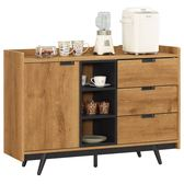 【森可家居】摩德納4尺餐櫃 8CM909-3 木紋質感