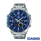 CASIO卡西歐 狂野致命計時碼錶雙顯男腕錶-藍x46mm EFV-C100D-2A
