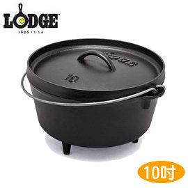 丹大戶外【LODGE】L10DCO3 Camp Dutch Ove 5QT深型附腳荷蘭鍋 鑄鐵材質/會釋放鐵離子使食材更好吃