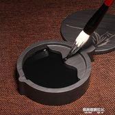 多功能歙硯帶蓋硯臺墨池文房四寶天然原石筆架擱筆可儲藏墨汁  凱斯盾數位3C
