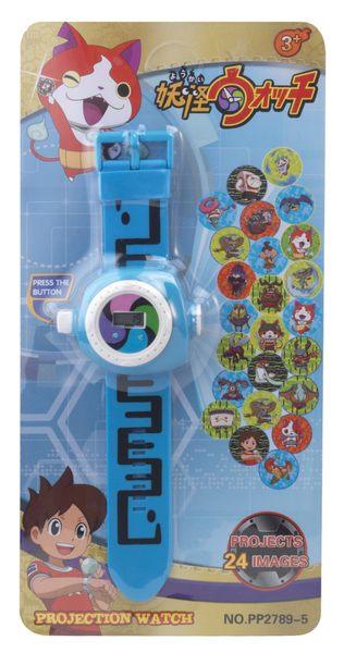 Yap 平價好品~24 投影兒童手錶POLI妖怪手錶叮噹超能陸戰隊KT米奇芭比變形金剛 佩佩豬 ~現貨