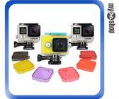 【3件任選88折】Gopro hero3 鏡頭 防水殼 潛水殼 濾鏡 保護蓋 灰/黃/橘/紫/粉紅 可選
