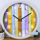 掛鐘 鐘表時尚掛鐘臥室卡通時鐘圓創意掛表簡約現代客廳靜音石英鐘